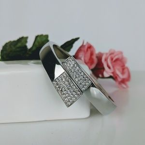 Lia Sophia Silver Bracelet with clear crystals